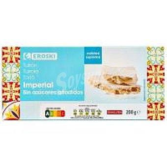 Eroski Turrón imperial sin azúcar Caja 200 g