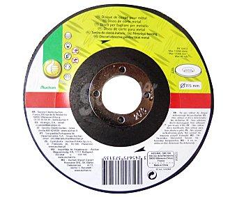 Productos Económicos Alcampo Disco de Corte para Metal, 115 Milímetros de Diámetro 1 Unidad