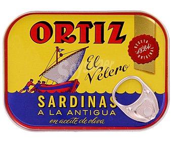 Conservas Ortiz Sardinas en aceite de oliva a la antigua Lata 100 g (neto escurrido)