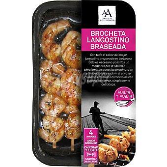 Angulas Aguinaga Brocheta langostinos mediterránea Bandeja 145 g
