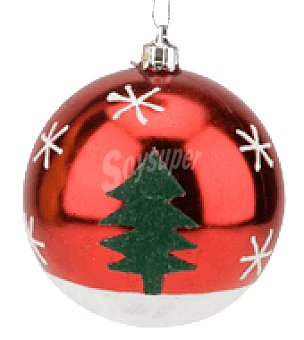 Carrefour Bola decorada 8CM xmas red crf
