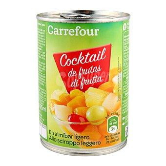 Carrefour Coctail de frutas en almíbar 240 g