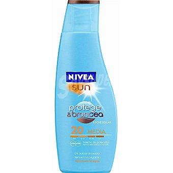 Nivea Sun Leche solar FP-20 resistente al agua Sun Protege & Broncea Frasco 200 ml