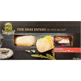 Martiko Foie gras entero de pato mi cuit envase 125 g Envase 125 g