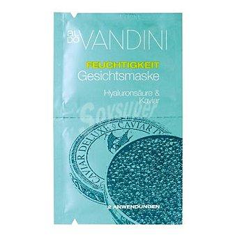 Aldo Vandini Mascarilla fácial hidratante con caviar y ácido hialuronico en sobre 1 ud