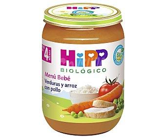 HiPP Biológico Tarrito de verduras y arroz con pollo ecológico a partir de 4 meses 190 gr