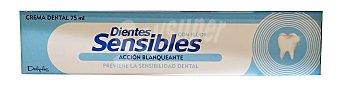DELIPLUS Dentífrico pasta dientes sensible acción blanqueante Tubo de 75 ml