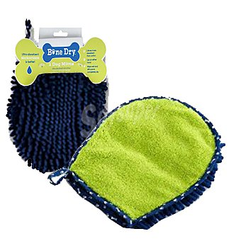 Interfergamo Manopla de baño para mascotas. Color: azul y verde 1 unidad