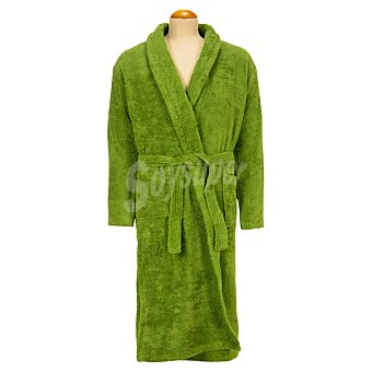 Casactual Albornoz adulto talla L de rizo americano color verde oliva 1 unidad