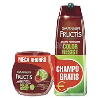 Fructis Garnier Mascarilla Color Resist Tarro 400 ml + Champú