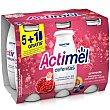 Yogur líquido granada y arándanos Pack 6 x 100 g Actimel Danone