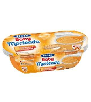 Hero Babymerienda Tarrito natillas con galleta maría pack de 4x130 g