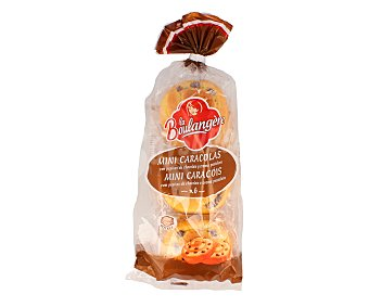 La Boulangere Mini caracolas con pepitas de chocolate y crema pastelera 300 gramos