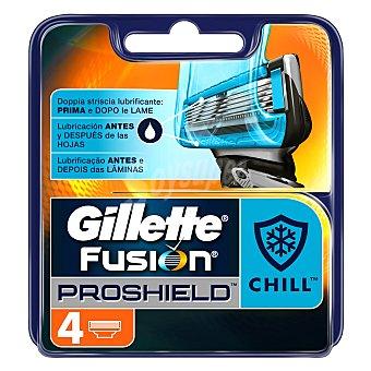 Gillette Fusion Proshield Chill recambio de maquinilla de afeitar Blister 4 u