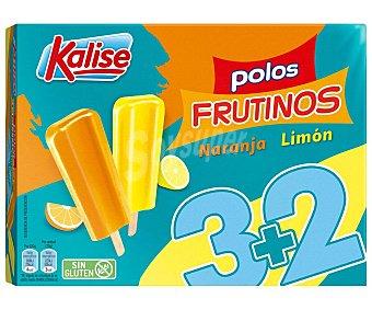 Kalise Polo de hielo con salbor a naranja y limón 5 x 70 g