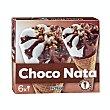Helado cono nata chocolate Pack 6 x 120 ml Hacendado