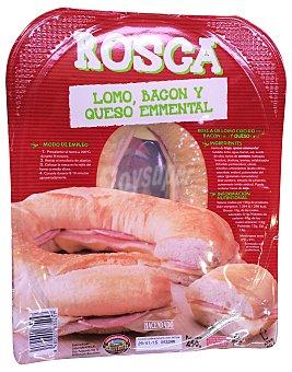 Hacendado Rosca fresca lomo bacon queso emmental 450 g