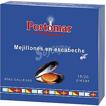 PORTOMAR SERIE NAUTICA Mejillones en escabeche de las rías gallegas 15-20 piezas Lata 160 g