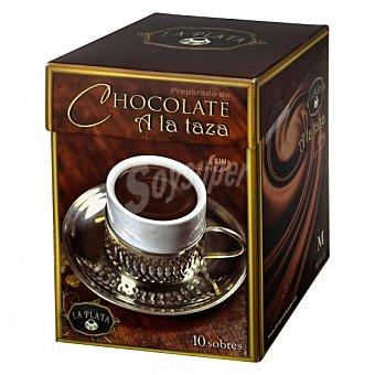 Chocolate a la taza en polvo La Plata sin gluten 10 sobres