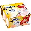 yogur sabor fresa paack 4 unidades 125 g La Lechera Nestlé