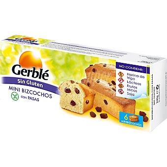 Gerblé Mini bizcochos con pasas sin gluten Envase 240 g