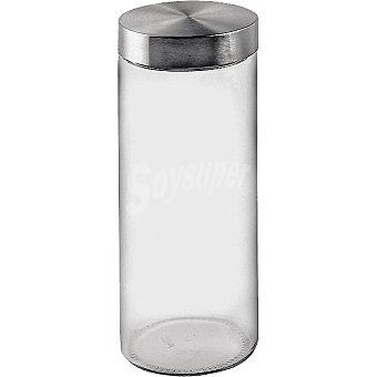 Casactual Tarro de vidrio con tapa de acero 2,2 l