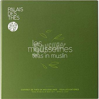 PALAIS DES THES Té negro y verde Les Mousselines originales y perfumados estuche 48 bolsitas estuche 48 bolsitas