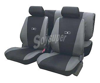 Erma Juego de fundas para asientos de automóvil de talla única y fabricadas en poliester de color negro y gris Suzuka