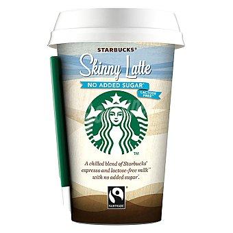 Starbucks Babida de café expresso con leche sin lactosa y sin azúcar skinny latte 220 ml