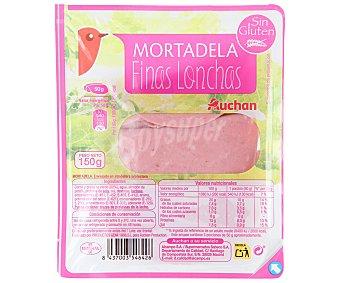 Auchan Mortadela en finas lonchas 150 gramos
