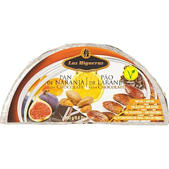 LAS HIGUERAS Pan de naranja con chocolate  envase 250 g