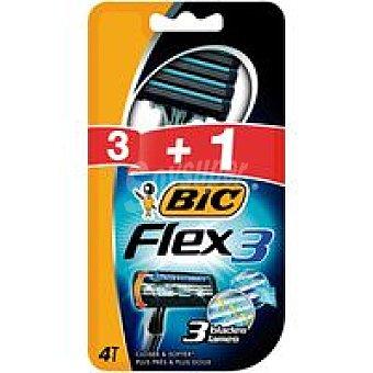 Bic Maquinilla desechable Confort 3 Flex Pack 4 unid