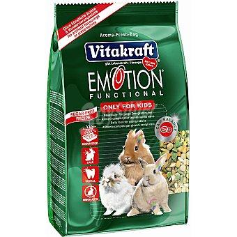 Vitakraft Alimento premium para conejos enanos junior Emotion Kids Paquete 600 g