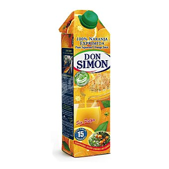 Don Simón Zumo exprimido naranja sin pulpa Brik 1 litro