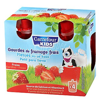 Carrefour Petit pocket fresa Pack de 4x90 g