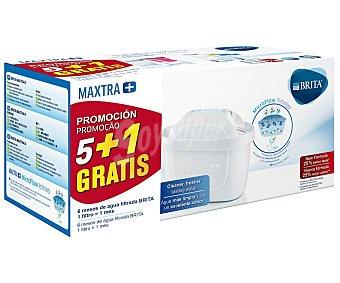 BRITA Maxtra Filtros Maxtra+ Universal para jarras purificantes, 5+1 brita Pack de 6