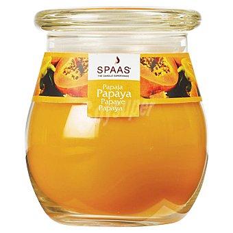 SPAAS Vela perfumada en vaso de cristal con tapa aroma Papaya 1 Unidad