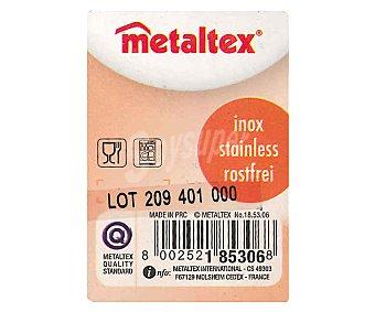METALTEX Exprimidor de 13 centímetros de diámetro fabricado en acero inoxidable 1 Unidad
