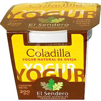 COLADILLA Yogur natural de leche de oveja Frasco 200 g