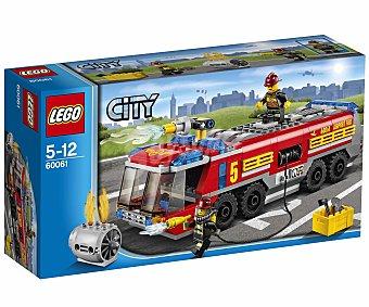 LEGO Juego de Construcción City, El Camión de Bomberos Aeroportuario, Modelo 60061 1 Unidad