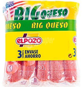ElPozo Salchichas big con queso Pack 3x180gr