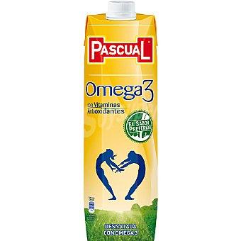 Pascual Omega 3 leche desnatada con vitaminas antioxidantes Envase 1 l