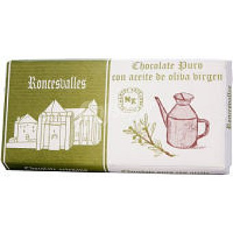 Roncesvalles Chocolate con aceite de oliva Tableta 125 g