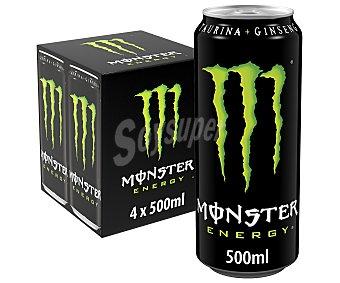 Monster Energy Bebida energética Pack 4 uds. x 50 cl