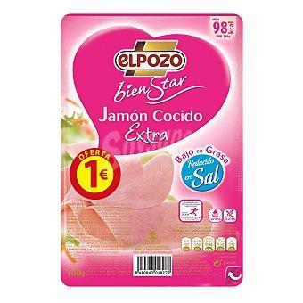 ElPozo Bienestar jamón cocido extra sin lactosa Sobre 100 g