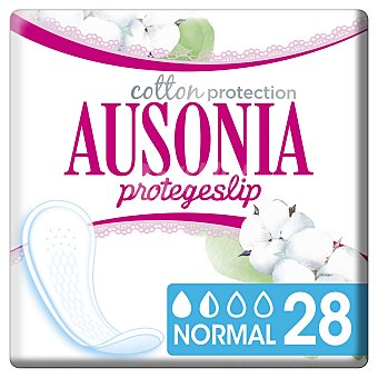 Ausonia Cotton Protection protege slips normal de algodón orgánico Caja 28 unidades