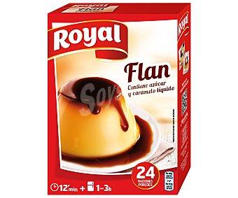 Royal Flan para preparar contiene azúcar y caramelo líquido 24 flanes Estuche 558 g