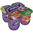 Yogur con Fresas Vitalinea de Danone 4 ud Vitalínea Danone