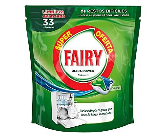 Fairy Detergente en pastillas para lavavajillas 33 unidades (536 g)