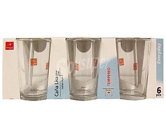 DURALEX Pack de 6 vasos de caña, con capacidad de 20 centilitros y fabricado en vidrio templado 1 Unidad